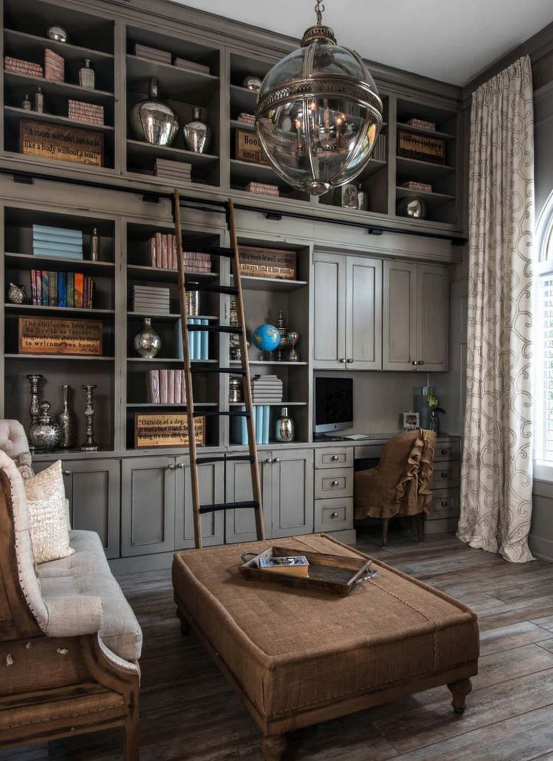 Home Library Office: 81 Cozy Home Library Interior Ideas