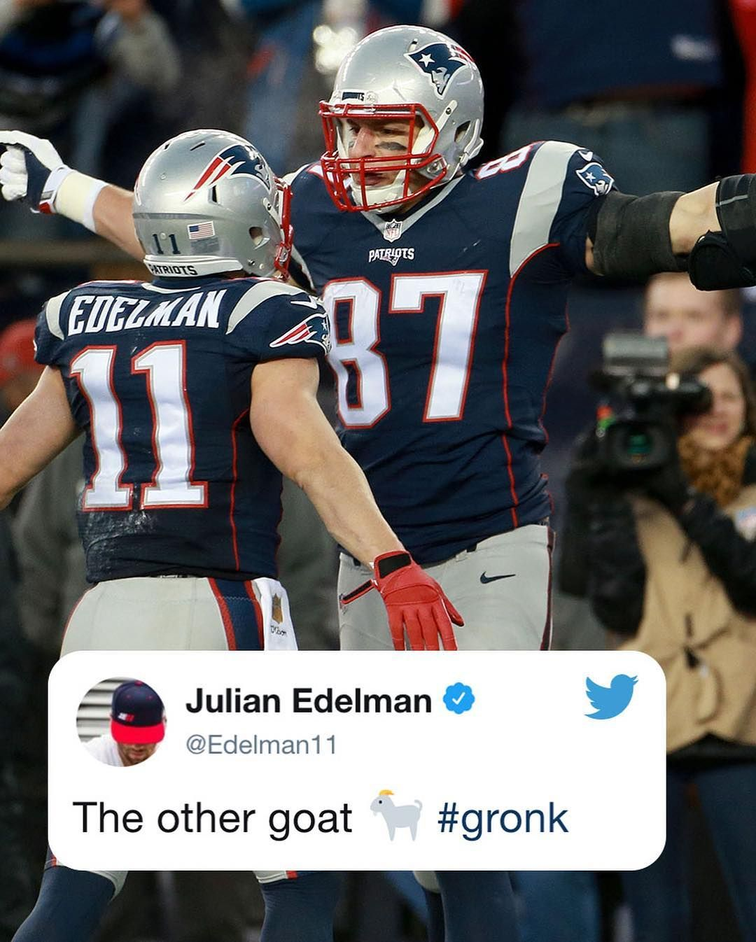 Espn On Instagram Some Big Nfl Names Congratulated Gronk On His Iconic Career New England Patriots Cheerleaders Nfl New England Patriots Patriots Football
