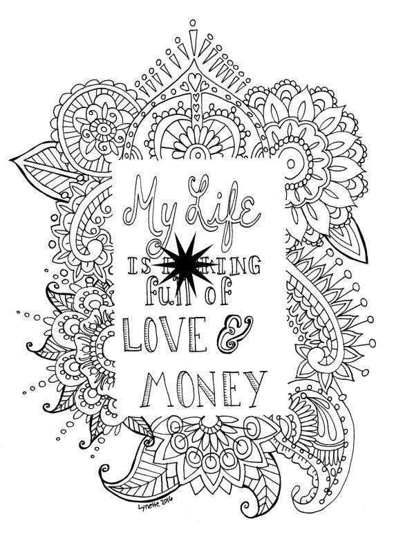 Adult Swear Word Coloring Page Mature Content Instant By SeaMySoul