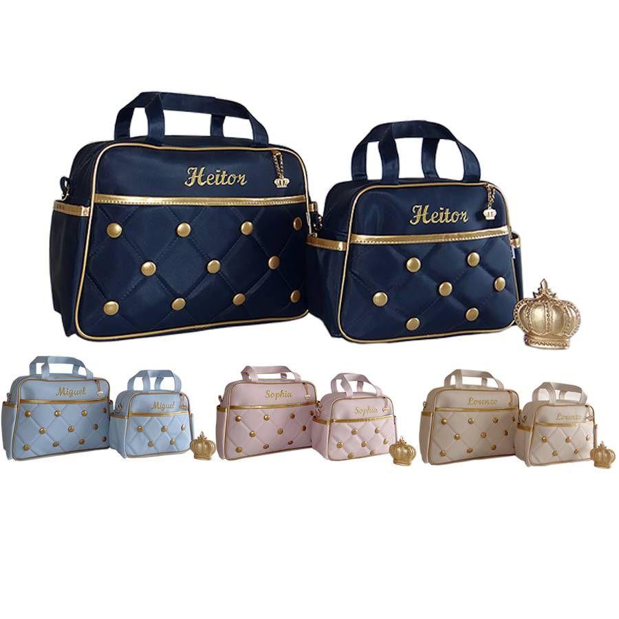 c390438874 Kit Bolsa De Bebe Maternidade Personalizada Luxo + Brindes. - R  197 ...