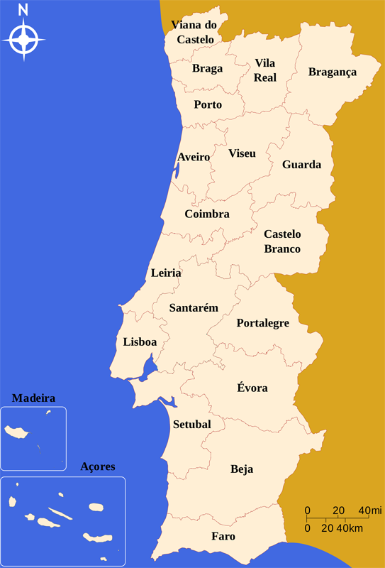 mapa com as cidades de portugal mapa_distritos_de_portugal | Portugal | Pinterest | Viajar e Vivo mapa com as cidades de portugal
