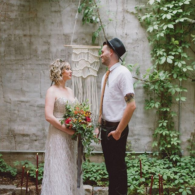 So honored that my macrame wall hanging was used in this beautiful styled wedding shoot! Check it out on @greenweddingshoes! Contact me if you would like to have a custom piece for your big day! Weddings and macrame are the perfect union! ❤️ /  by @thecolagrossis