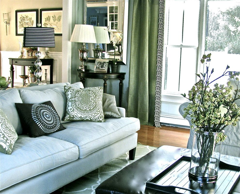 Contemporary Traditional Transitional Family Room Living Design Photo By South Shore Decorating Album
