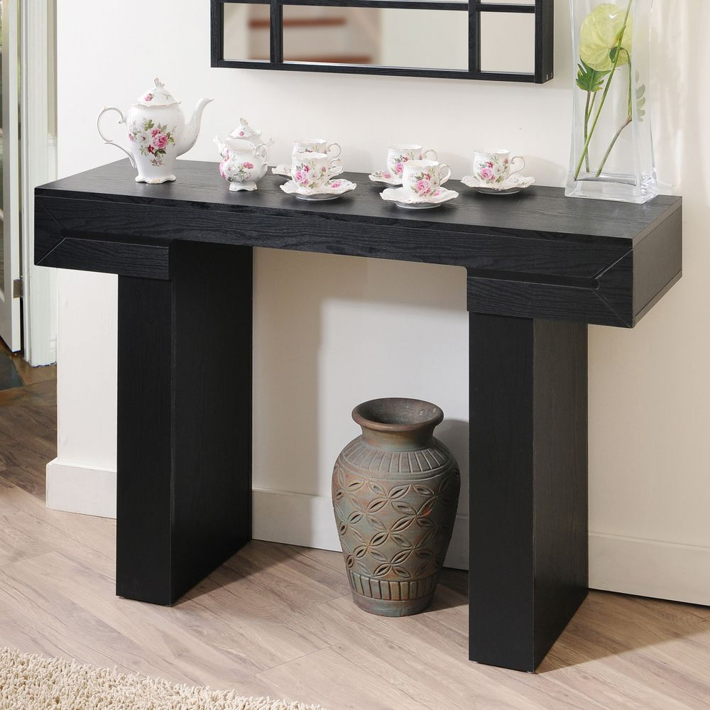 Furniture of america tiffy tee black finish sofa table by enitial lab tiffy tee black finish sofa table overstock geotapseo Images