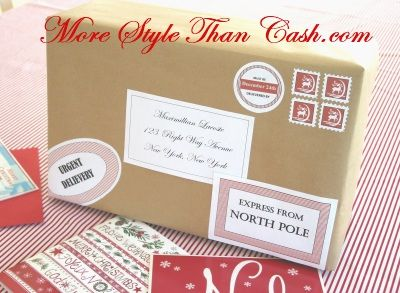 Santa Labels and Stamps from the North Pole Free Printables – Free Printable Shipping Label