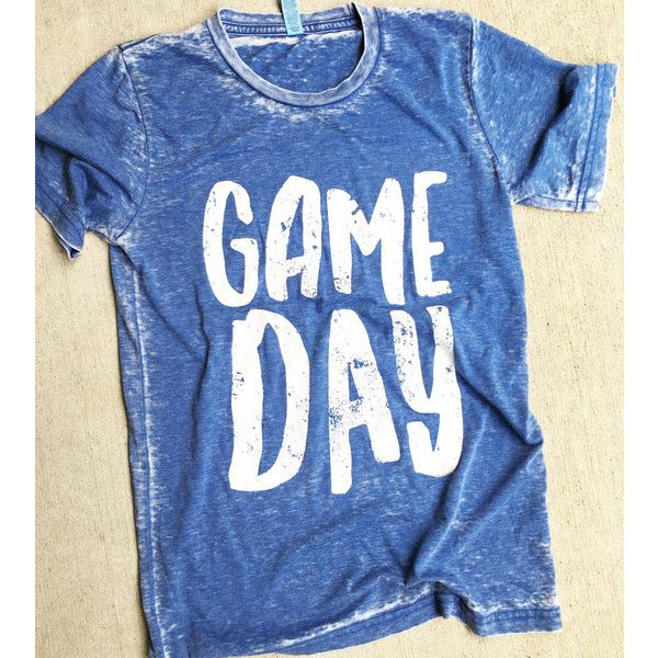 4a4350012 Game Day Tee Blue Game Day Shirt Football Shirt Cowboys Shirt Sorority...  ( 24) ❤ liked on Polyvore featuring tops