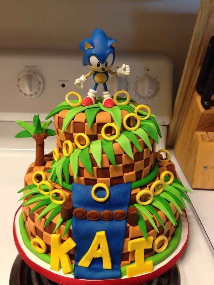 Pin By Academy Of Interactive Arts On Video Game Fun Sonic The Hedgehog Cake Sonic Cake Sonic Birthday Cake