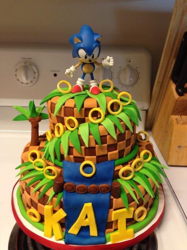 Astonishing Sonic Cake Via Reddit User Coob19 Sonic Hedgehog Cake Food Funny Birthday Cards Online Elaedamsfinfo