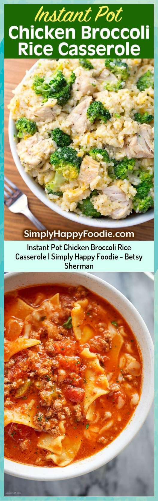 Instant Pot Chicken Broccoli Rice Casserole   Simply Happy Foodie - Betsy Sherman #Betsy #Broccoli #Casserole #Chicken #Foodie #Happy #Instant #Pot #Rice #Sherman #Simply