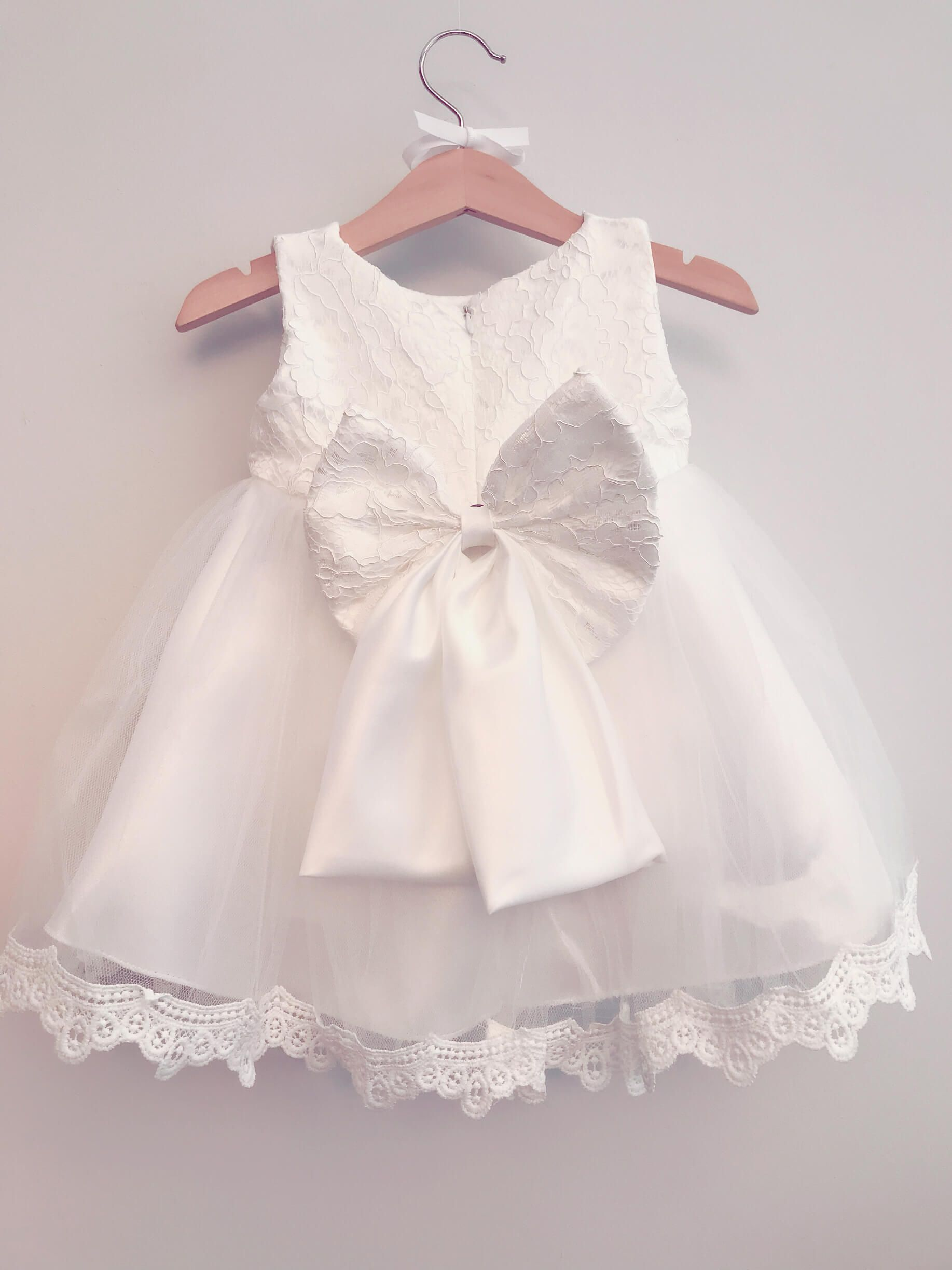 66723189c How beautiful is this White Princess Bow Dress? Only £19.95 😍 View Here: