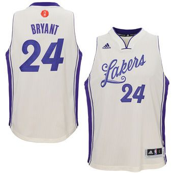 ecbc42689451 adidas Kobe Bryant Los Angeles Lakers Christmas Day Swingman Jersey. Lakers   24 Kobe Bryant White 2015-2016 Christmas Day Stitched NBA ...