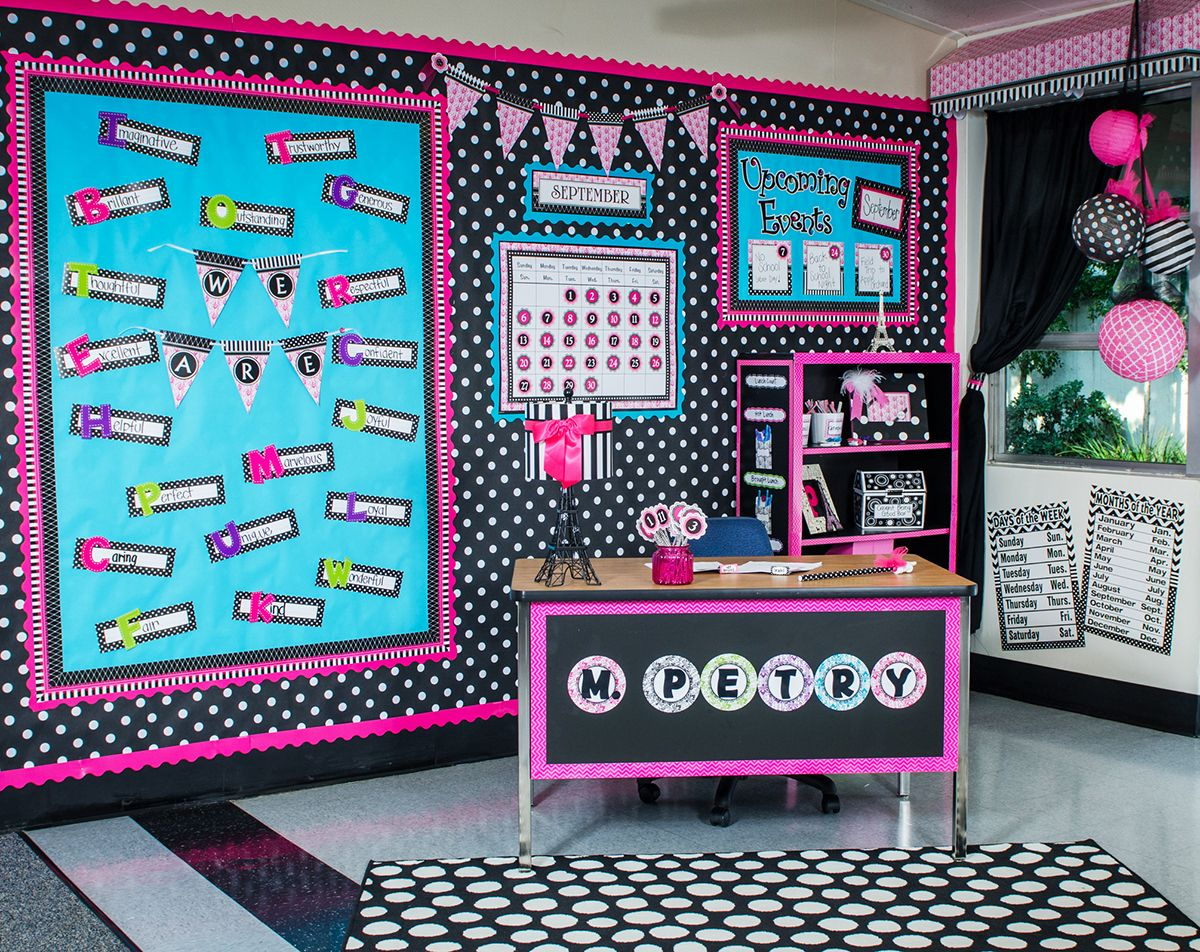 Parisian Clroom Teacher Created Resources Adorable Theme With Black White And Pink
