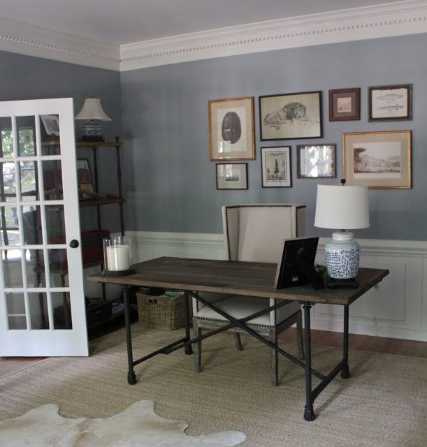 paint color for office. wall color- benjamin moore 1593 adagio - office paint color for