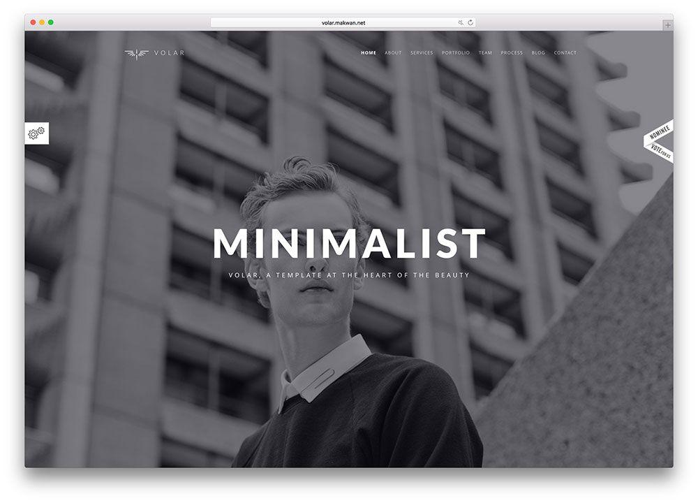 Volarminimalistfullscreenhtmlwebsitetemplate Inspo Deeds - Minimalist website template