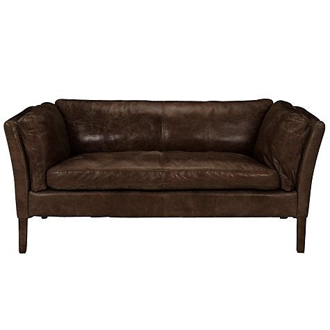 Bon Buy Halo Groucho Small Leather Sofa Online At Johnlewis.com