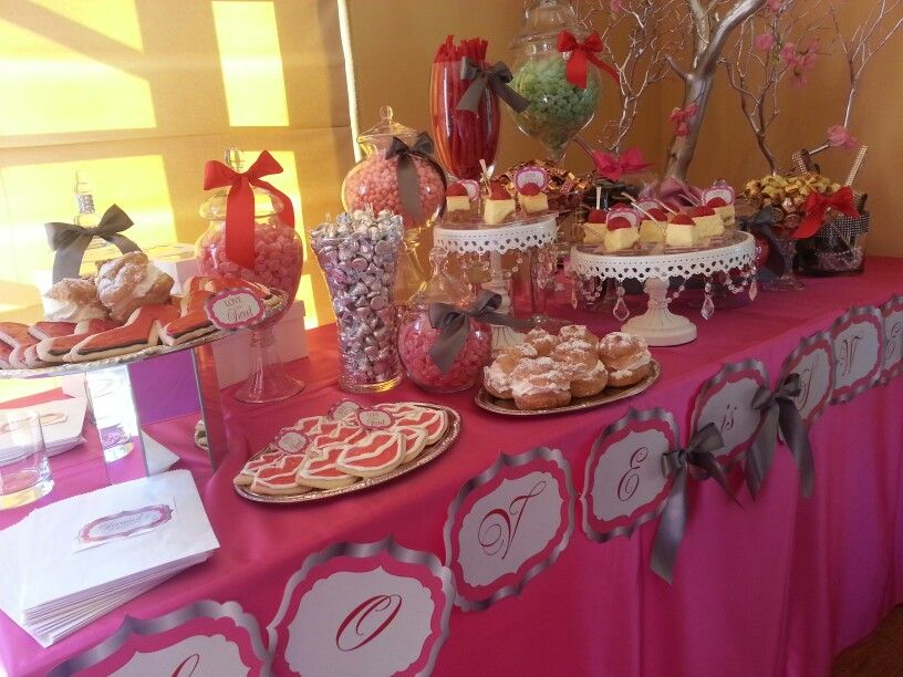 bridal shower candy and dessert buffet at the terranea resort in pv