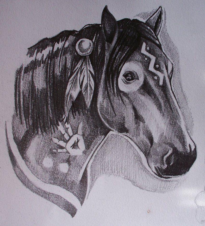 War Horse By Phantomphreaq On Deviantart Native American Horse Tattoo Native American Horses Indian Horse Tattoo [ 937 x 853 Pixel ]