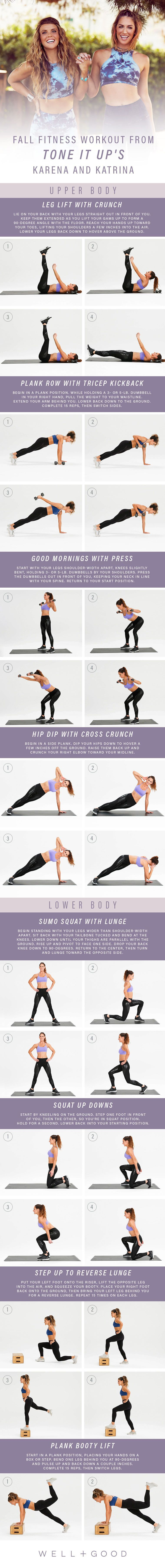 Tone It Up fall fitness workout plan | Well+Good,  #fall #Fitness #Plan #tone #WellGood #Workout #wo...