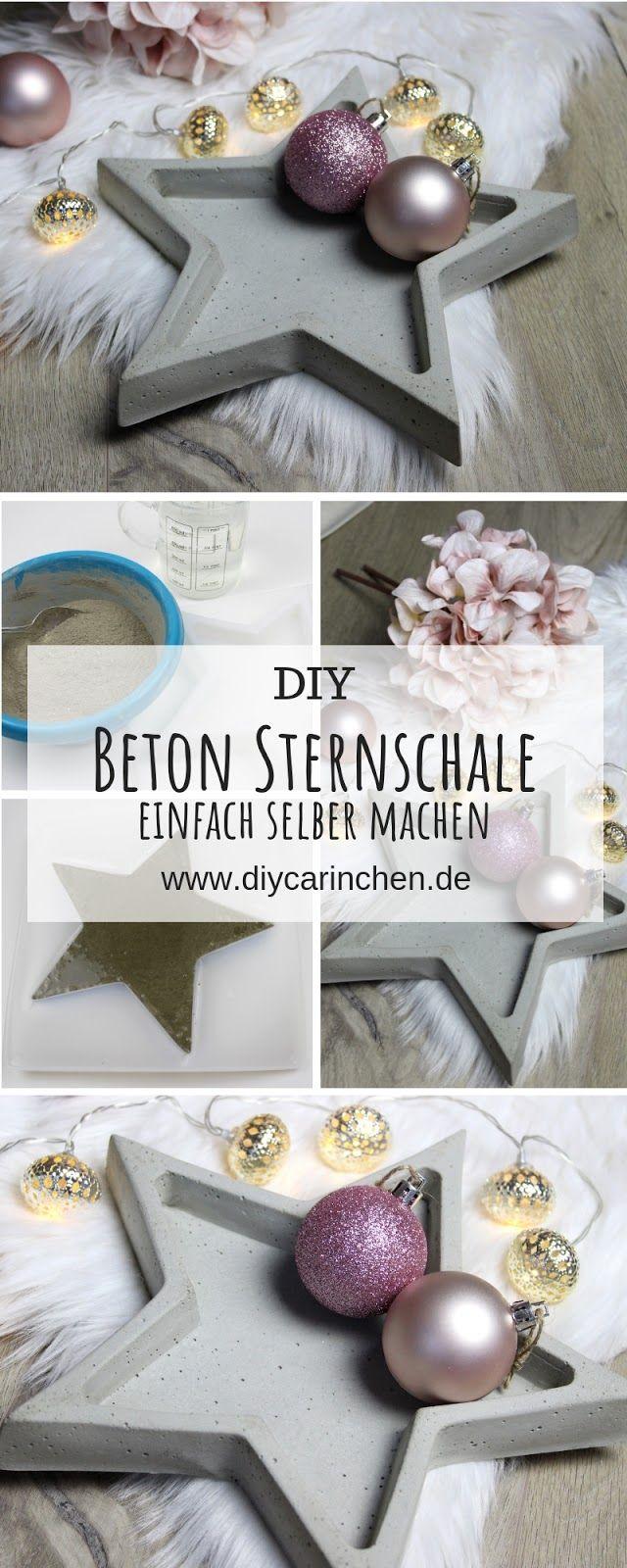DIY Betonschale Stern in wenigen Schritten selber machen – Weihnachten