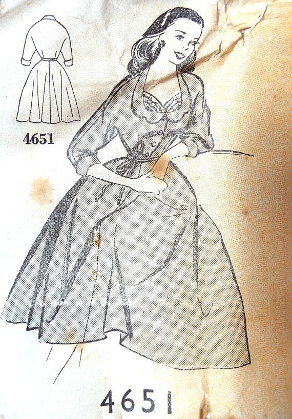 Vintage 1950s Maudella British sewing pattern Beautiful flared ...