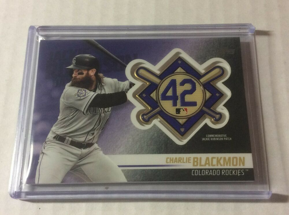 2018 Topps Update Baseball Jackie Robinson Patch Card Charlie
