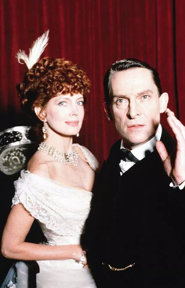 Sherlock Holmes (played by Jeremy Brett) and Irene Adler (Gayle ...