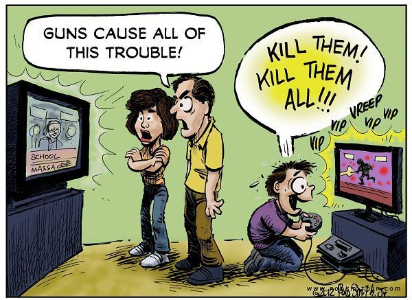 marketing of violent entertainment to children is not responsible for school shootings This week's school shootings in of a toxic culture of violence that is enveloping our children with being responsible for the shootings.