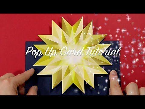 Last Minute Christmas Pop Up Card Tutorial Pop Up Christmas Cards Pop Up Cards Pop Out Cards