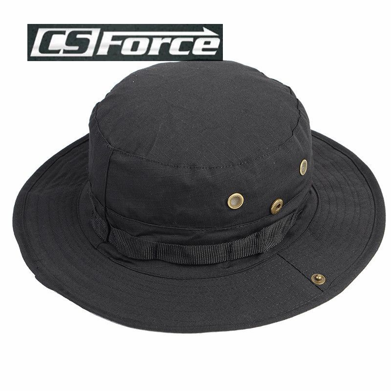 CS Force New Arrival Camo Cover Military Wide Brim Camouflage Cap Men Sport Hunting Fishing Camping Boonie Hat Masculino