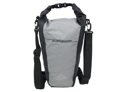 Amazon Com Overboard Waterproof Pro Sport Roll Top Slr Camera Bag Grey Black 15 Liter Boating Dry Waterproof Camera Bag Slr Camera Bag Waterproof Camera