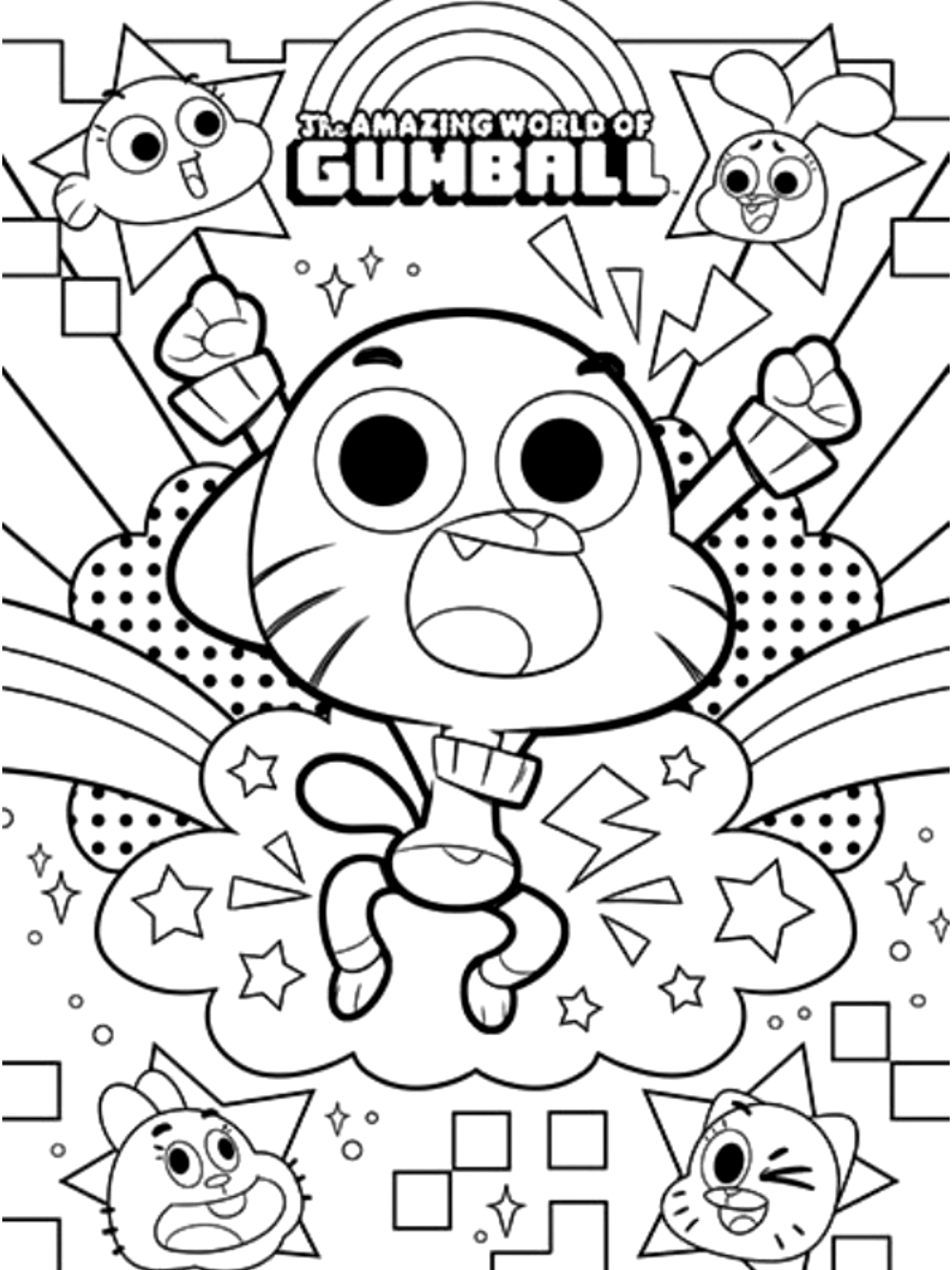 Pin By Ben Hammouda Raoudha On Coloring Pages Birthday Coloring Pages The Amazing World Of Gumball World Of Gumball