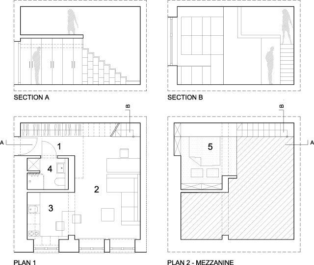 plattegrond van huis met gave trap Woonkamer Pinterest