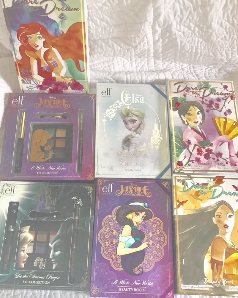 SALE ELF Makeup Limited Edition Disney Lot of Beauty Book