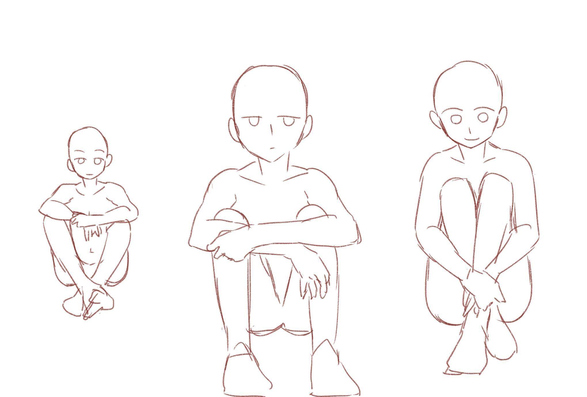 Male Anime Hair Styles Manga Hair Sketches Drawings
