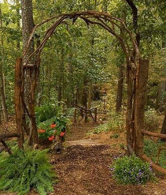 Wedding Arch Woodland Garden Outdoor Shade Garden