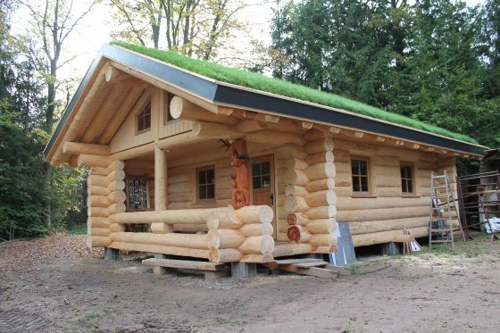 Hessenforst Blockhaus Haus Holzhaus Plane Holzhaus