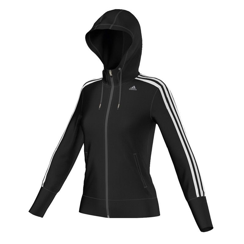 adidas Climacool Training Core Hooded 3-Stripes Tracktop ...