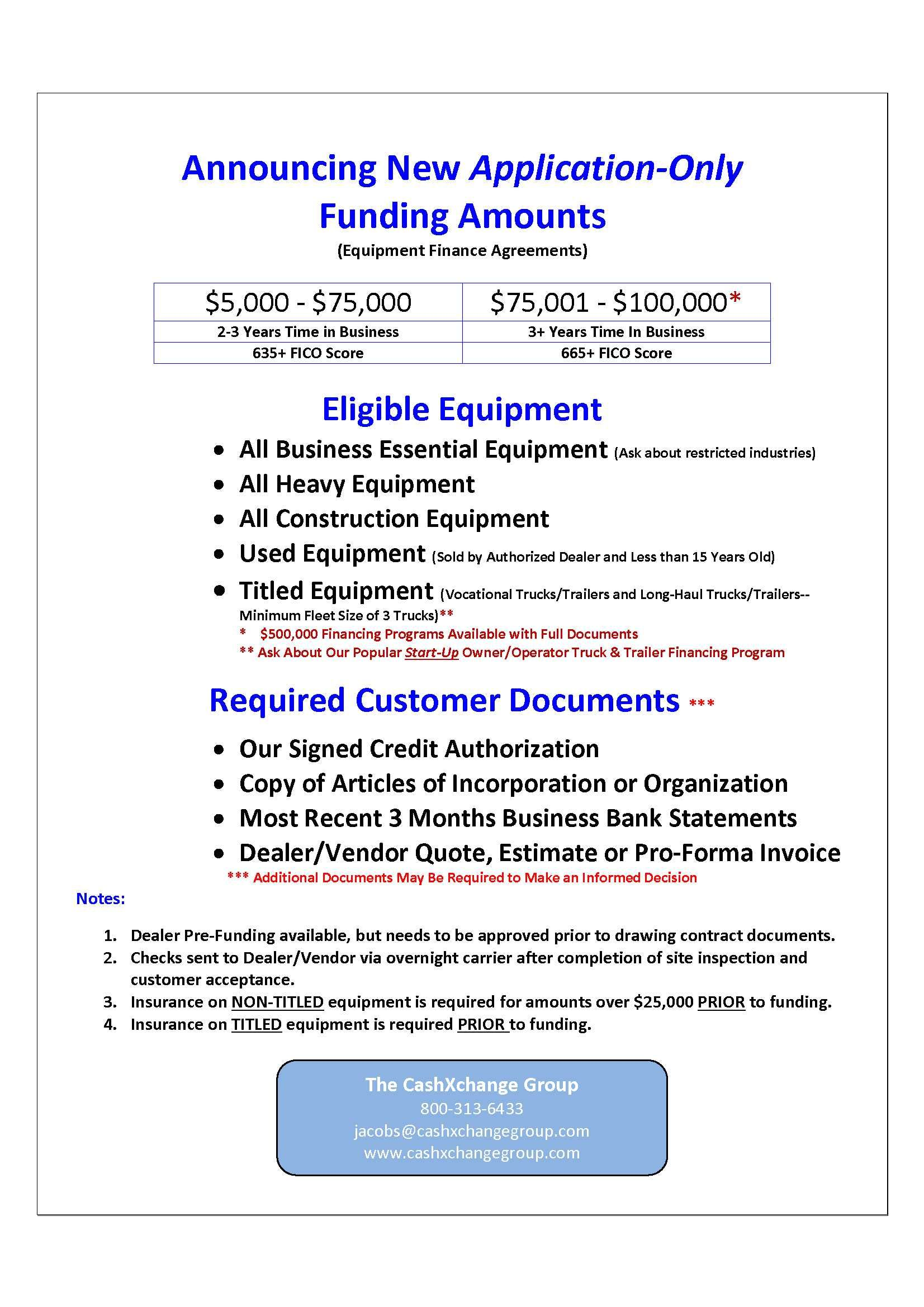Application Only Heavy Equipment Lease Financing Finance Heavy