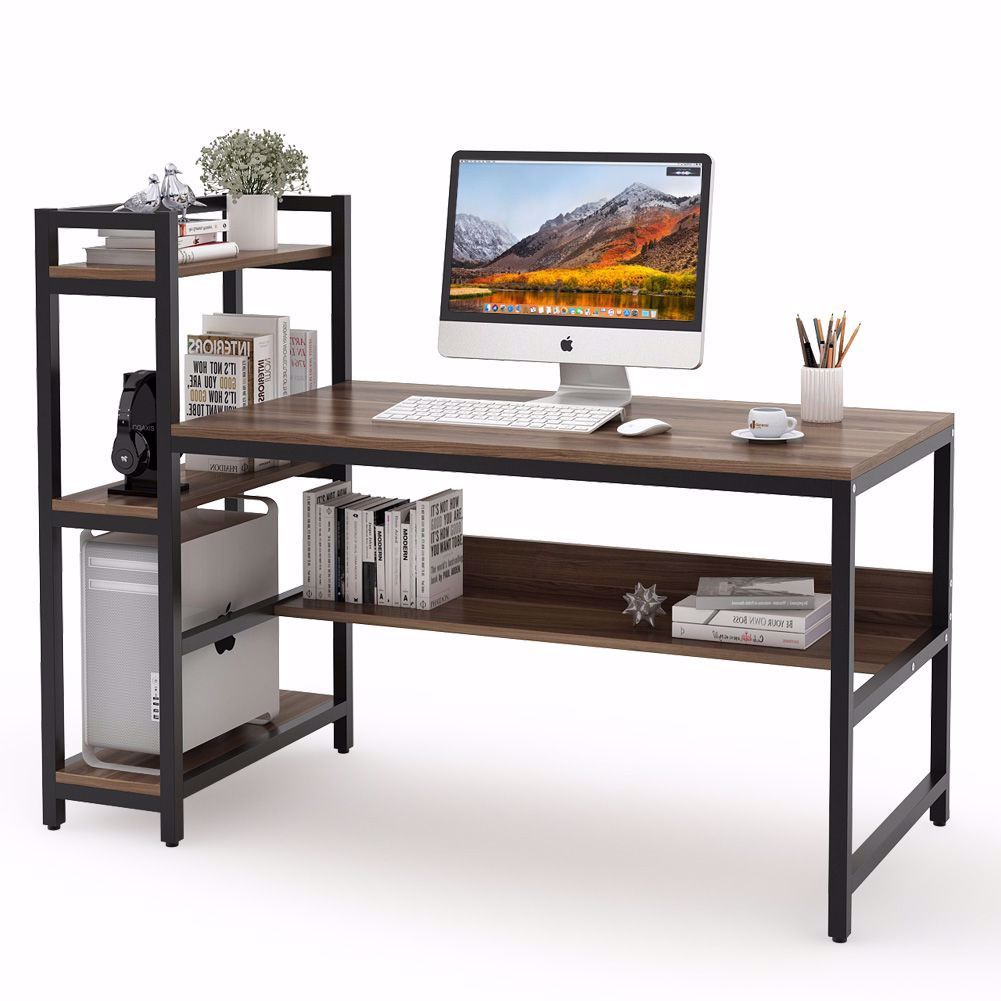 Compact Design Make This Desk Fits Nicely In A Small Room And Maximizes Your Home Office Workspace Perfec Computer Desks For Home Computer Table Bookshelf Desk