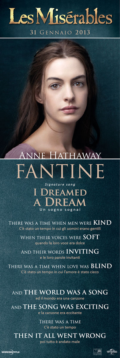 Lesmis Anne Hathaway Fantine Signature Song I Dreamed A Dream