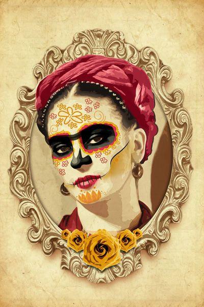 Obras De Arte De Frida Kahlo Pesquisa Google Con Imagenes