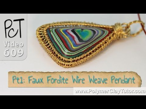 Polymer clay faux fordite wire weave pendant tutorial intro polymer clay faux fordite wire weave pendant tutorial intro youtube mozeypictures Image collections