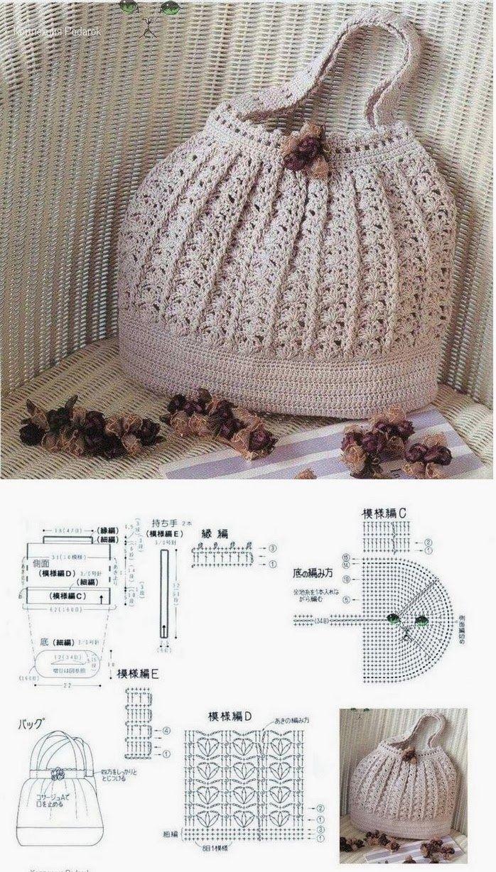 Revenue Trico & Croche: Beautiful bag in crochet | crochet/tejidos ...