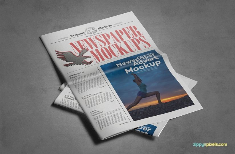 9 Newspaper Psd Advertisement Mockups Mockup Psd Templates And