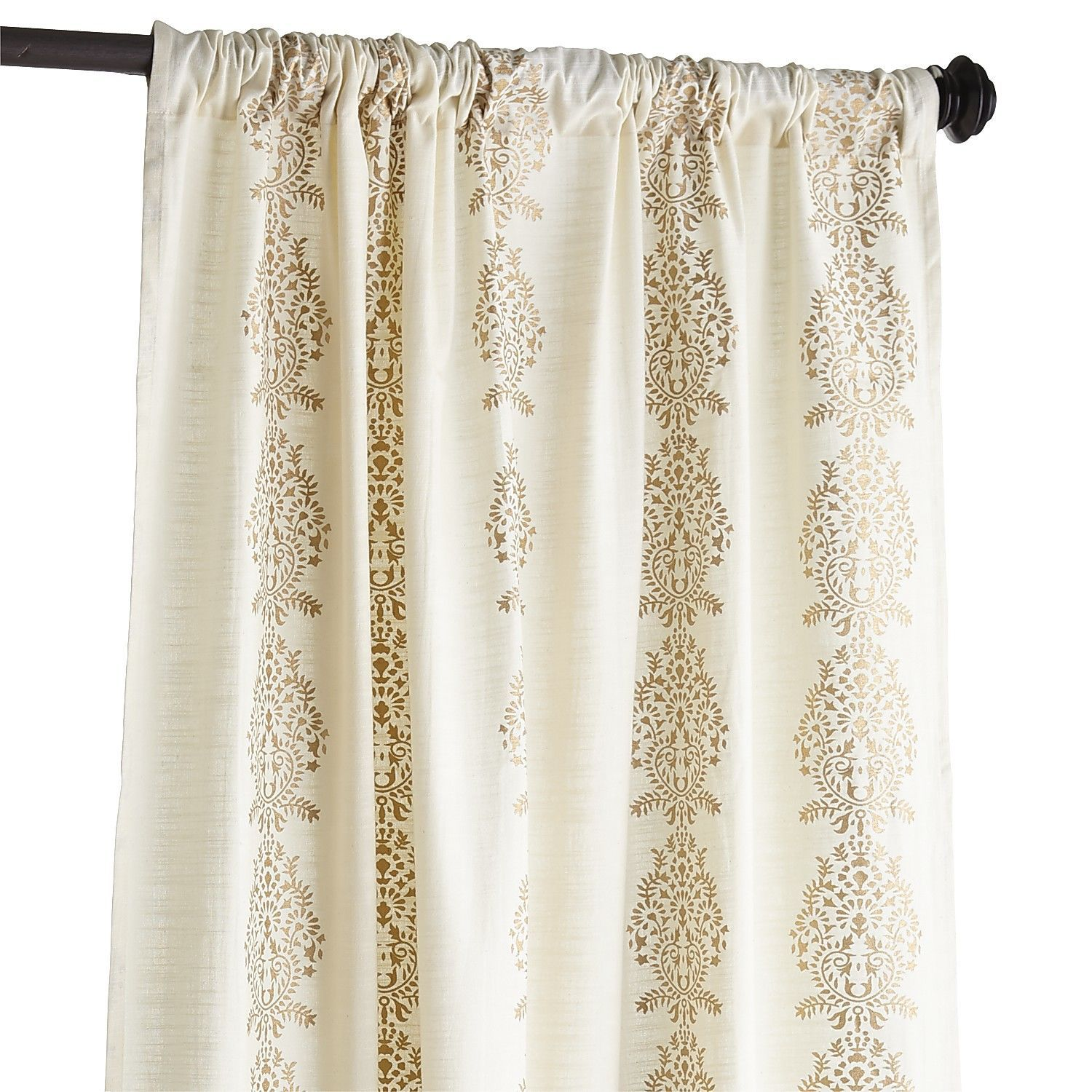 Make This Look On Cheaper Solid Curtains Damask Stripe