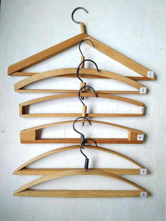 Vintage Clothes Hanger Wooden Hanger Storage Clothes Home