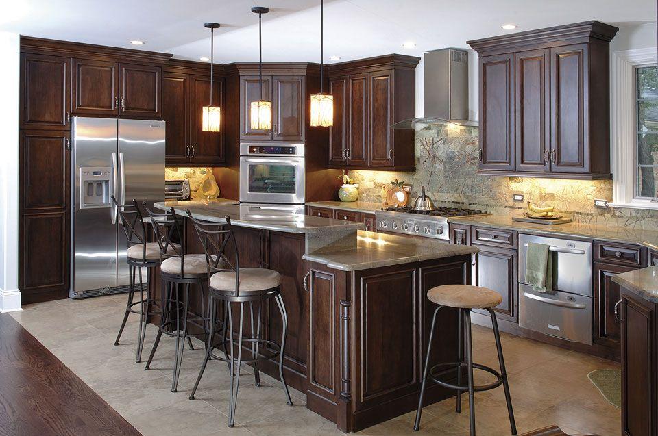 Custom Kitchen Cabinets Espresso Finish Raised Panel Frameles Adorable Custom Kitchen Cabinets Review