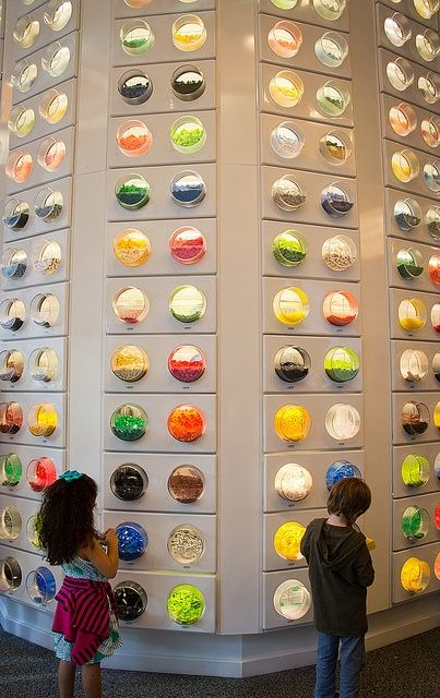 Pick-a-brick wall in the Rockefeller Center LEGO store - New York ...
