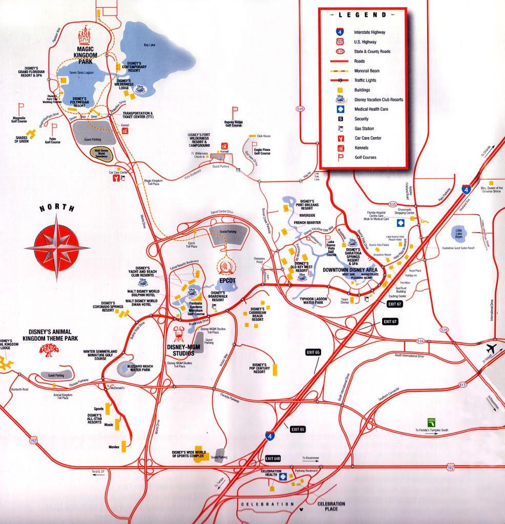 Disney transportation system | FULL MAP OF WALT DISNEY WORLD ...