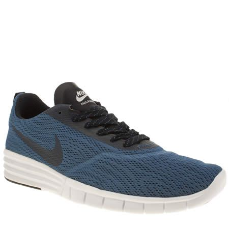 mens nike skateboarding blue paul rodriguez 9 r/r trainers